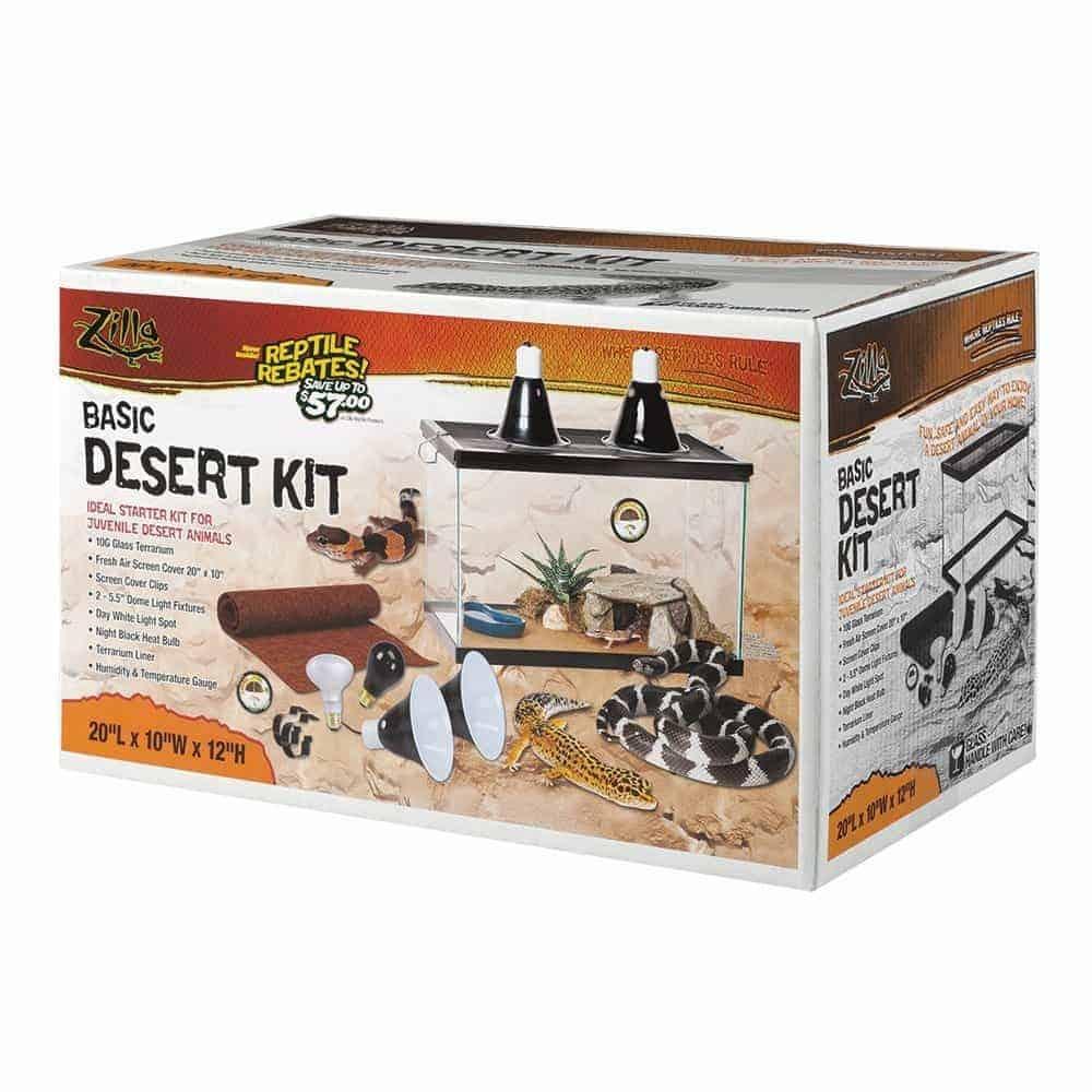 Zilla Desert Basic Starter Kit Leopard Habitat For Sale
